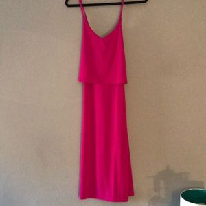 🔥BEAUTIFUL HOT PINK BANANA REPUB FLATTERING DRESS